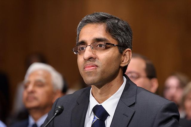 US Surgeon General Vivek Murthy Photo credit: Wikimedia Commons, public domain