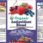 Product label of Townsend Farms Organic Anti-Oxidant Blend frozen berry and pomegranate mix