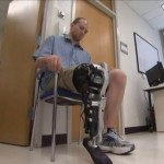 Zac Vawter using the prosthesis prototype. Credit: YouTube