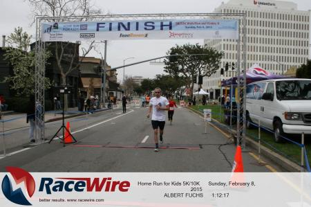 Albert finishing 10K